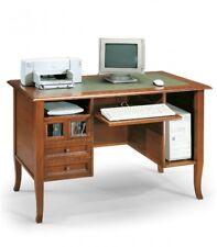 Scrivania Classica in Legno per PC con cassetti noce lucido