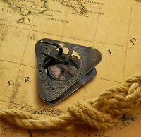 Solid Brass Captain's Nautical Sundial Compass