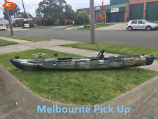 4.2M 14ft Single Sit-On Fishing Kayak with Paddle and Seat