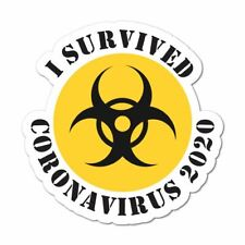 I Survived Sticker Funny Virus Isolation Covid Car Decal Bumper