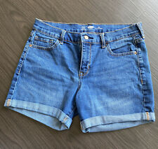 Old Navy Fitted Bermuda Denim Shorts Women's Size 10  Cuffed