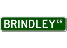 BRINDLEY Street Sign - Personalized Last Name Sign