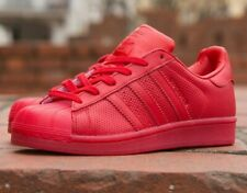 ADIDAS 10 Trainers SUPERSTAR Adicolor SCARLET RED 44 Leather Shoes S80326