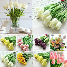8 Colors Real Touch Flowers Tulips Centerpieces Bridal Wedding Party Supplies