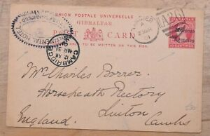 Tangier Morocco Agencies to England QV 1901 Stationery Card