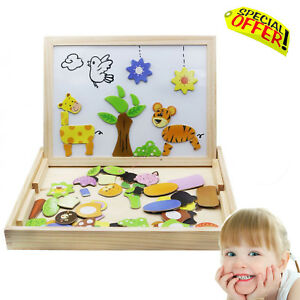 Sensory Toys Educational Magnetic Board Puzzle Autism Special Need Children Game