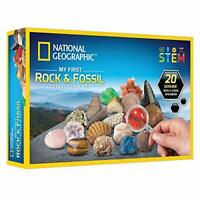 NATIONAL GEOGRAPHIC My First Rock & Fossil Collection Set 20 Genuine Pieces