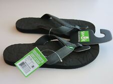 Sanuk 8 Men's Surf Flip Flops Sandals Shoes Black High Tide NWT