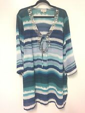 Autograph multi coloured  tunic top size 20 Women's Casual/Work