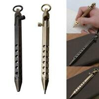 1Pcs Hexagonal Prism Shape Signature Pen Tactical Ballpoint Brass Pen Stationery