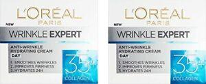 2 x L'oreal Wrinkle Expert Anti- Wrinkle Hydrating Day Cream 35+  - (2 x 50ml)