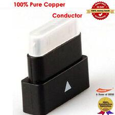 Black Dock Extender Adapter Converter 30Pin Pass Through Adapter for iPhone,iPad
