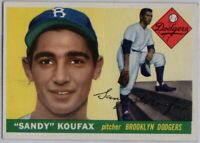 1955 Topps #123 Sandy Koufax VG-VGEX Crease Rookie RC Brooklyn Dodgers FREE S/H