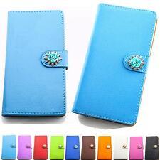 Strass Glitzer Handy Tasche Schutz Hülle Flip Cover Etui Style Design Case B309