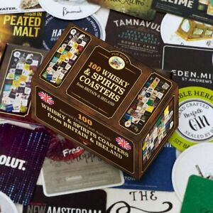 Whisky and Spirits Coasters/ Beer Mats Set of 100 (pwm)