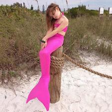 Girls Kids Casual Swimmable Mermaid Tail Monofin Bikini Swimwear Costume Sets
