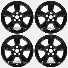 "4 BLACK 2015 2016 2017 Ford Mustang V6 17"" Wheel Skins Hub Caps Alloy Rim Covers"