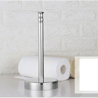 Stand Up Paper Towel Holder Stainless steel Sturdy Kitchen Counter Top Decor