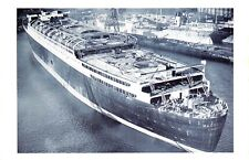 Nostalgia Postcard 1938 Mauretania Cunard White Star Liner Birkenhead Repro NS26