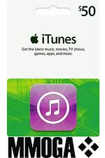 iTunes Gift Card $50 US Dollar - 50 USD APPLE Store USA Guthaben Prepaid Code