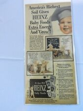 Vintage Heinz Baby Foods Magazine Advertisement Color Ad Cereal Oatmeal Barley