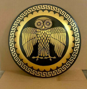 Medieval Athenian Owl Authentic Greek Hoplite Shield