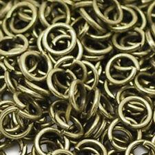 100 Biegeringe 4 mm - open jump ring - Federring - Verbindungsring antik bronze
