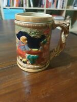 Beer Stein Tankard Mug Japan KW/G German Style Medium Handgemalf Vintage A3