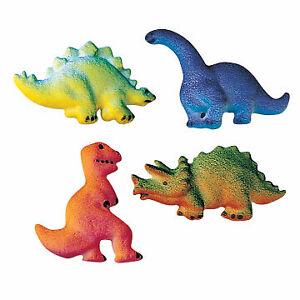 Sugar Decor Dinosaurs, Stegosaurus, T-Rex, Triceratops, Brachiosaurus, 8 pk