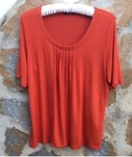 Marks & Spencer Orange Top By M&S Collection Size 16 Never Worn.