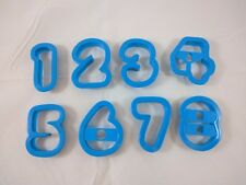 Numbers 1-9 Letters Plastic Cookie Cutters Jello Jigglers Playdough Preschool