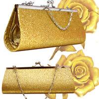 Women Glitter Clutch Purse Evening Party Wedding Banquet-Handbag