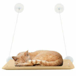 Cat Kitten Hanging Pet Bed Basket Cradle Hammock Window Mount Resting Seat Sun