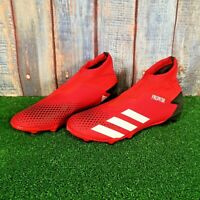 ADIDAS PREDATOR 20.3 LACELESS FG FOOTBALL BOOTS - RED SIZE UK 11, EU 46