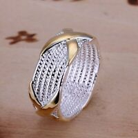 ASAMO Damen Herren Ring 925 Sterling Silber plattiert in 5 Größen R1013