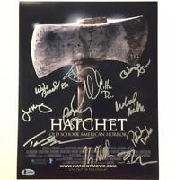 HATCHET Cast Signed 11x14 Movie Poster Photo w/ BAS Beckett COA LOA ~KANE HODDER
