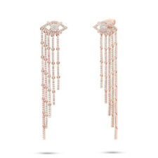 1.05ct 14k Rose Gold Diamond All Seeing Eye Diamonds By The Yard Fringe Earring