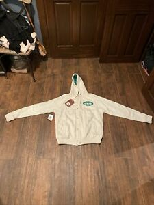 NWT NY Jets Mitchell & Ness Hoodie Sweatshirt Mens Size XL Embroidered Patches