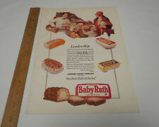 1920's Curtiss Candy Print Ad Baby Ruth Peter Pan Cocoanut Grove Ostrich Egg 5¢