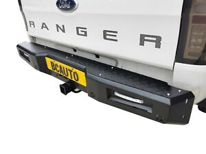 Rear Heavy Duty Bumper Bar Protection for Ford Ranger 2015-20 Tow Bar Compatible