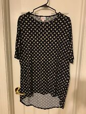 LulaRoe Irma Tunic ~ XS ~ Navy Blue Basket Weave Design ~ UNICORN NWT!!!
