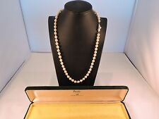 Mikimoto Baroque Pearls Authentic Signed M Logo on clasp  52cm