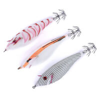 Lot 3pcs Squid Calamari Jig Sinking Duel Lure Saltwater EGI Squid Bait 10cm/9g