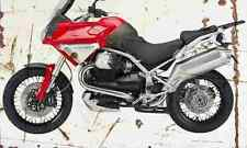 MotoGuzzi Stelvio1200 2008 Aged Vintage SIGN A3 LARGE Retro