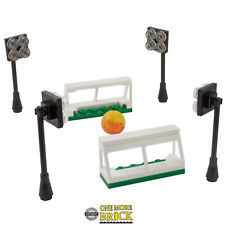 LEGO Football Goals - Inc Floodlights & Orange Soccer Ball