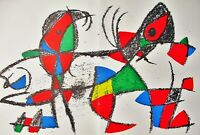 MIRO - LITHOGRAPH #10 - ORIGINAL LITHOGRAPH 1975 -  - FREE SHIPPING IN THE US  !