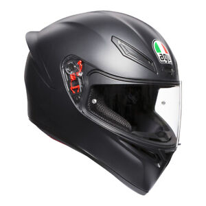 AGV K-1 K1 MATT BLACK MOTORCYCLE FULL FACE HELMET SIZE XS S ML L XL 2XL ON SALE!