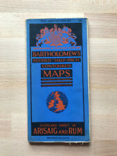 Bartholomew's vintage cloth map of Arisaig and Rum