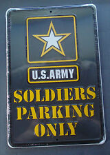 United States US Army Soldiers Parking Only Metal Tin Sign Gameroom Garage USA