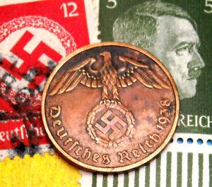 5 Set of Germany 8 coins 1 2 Reichsmark 10 pfennig  with Swastika-63 2